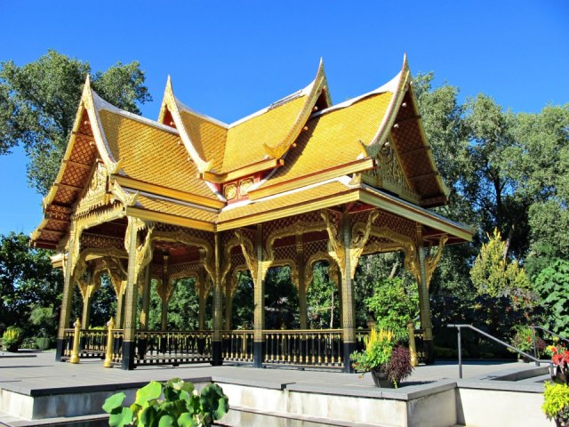 An authentic Thai pavilion, brought over from Thailand and built by Thai workers