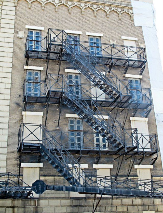 "This wasn't on the architecture tour, it was just on the way to my cousin's house. According to Mike, crazy fire escape are the essence of any ""real"" city."