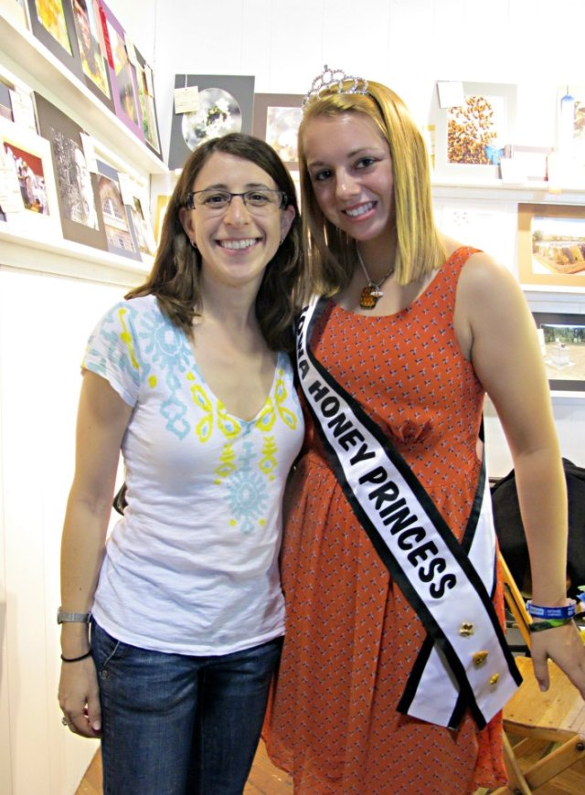 Deb took a picture with the Iowa Honey Princess