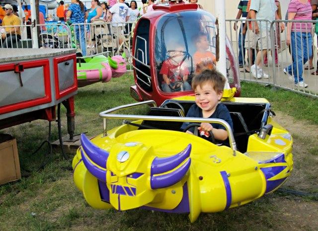 Elliot enjoyed the rides