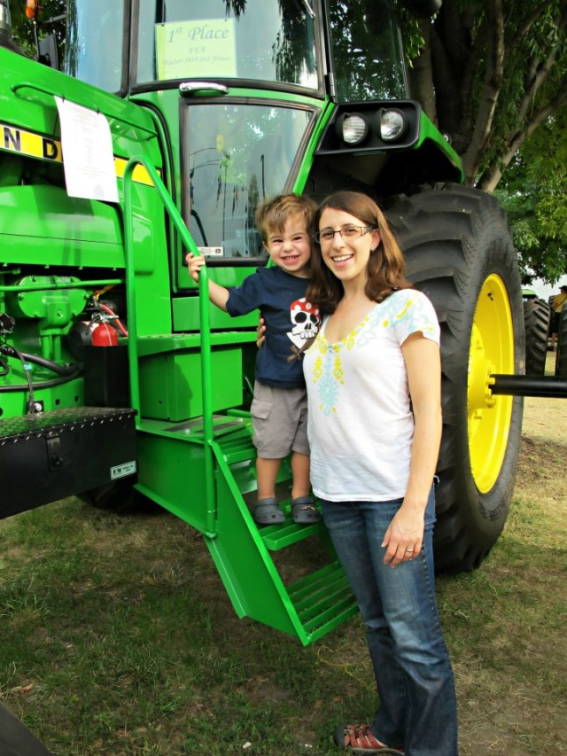 Elliot also really liked the tractors . . .