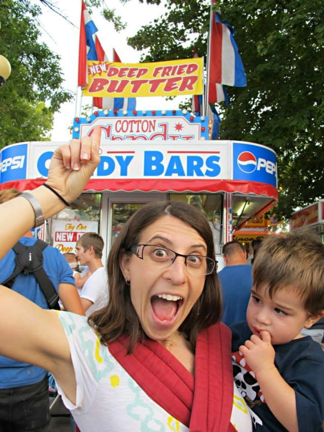 . . . but Deb was more interested in the horrifying foods like Deep Fried Butter . . .