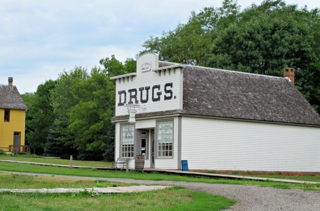 This Living History Farms drugstore was full of all kinds of powders and potions. It even had leeches!