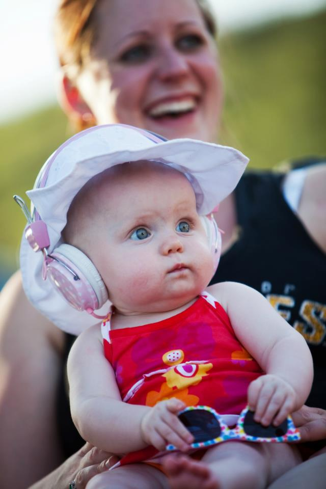 My sister and niece, Miss Millie, enjoying the tunes