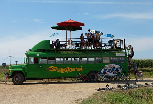 Team Shagbrai's bus