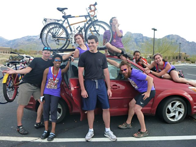 The AOC crew, posing for our post-ride victory shot