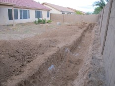 Retaining wall big dig