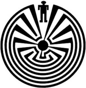 The Tohono O'odham symbol for I'itoi in his labyrinth under Baboquivari
