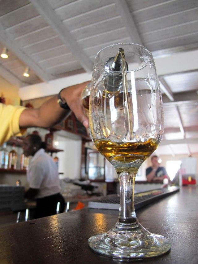 Mount Gay rum tasting
