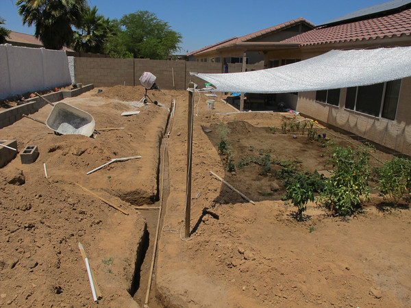 Irrigation pipes and a June 2011 overview