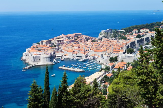Such gorgeous views! The part that juts out is all Dubrovnik's Stari Grad.