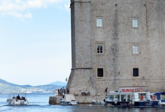 The castle's sea walls