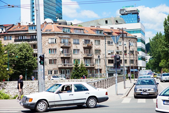 So many of the buildings in Sarajevo show the scars of the war.